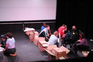 Solar Youth Theatre rehearsing for Break Down the Wall for Happened 1990