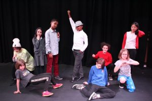 Equinox Youth Theatre rehearsing for Saturday Night for Happened 1990