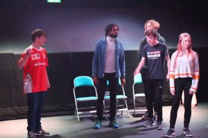 Orbit Youth Theatre rehearsing for Where Were You? for Happened 1990
