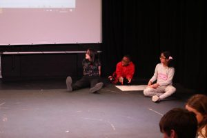 Eclipse Youth Theatre rehearsing for Connectivity - The Birth of the Internet: Happened 1990