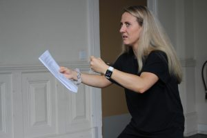 Rehearsal photo of actor Jade for Angel