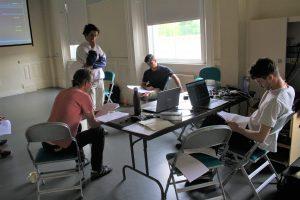 Rehearsal photo of the creative team of Daytime Deewane