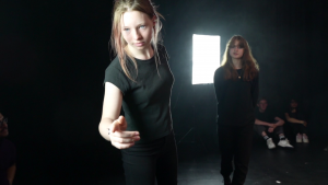 Production stills from Where Were you? by Orbit Youth Theatre for Happened 1990