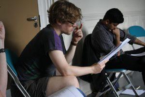 Rehearsal photo of director Stephen for Daytime Deewane