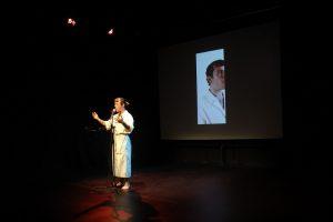 Production photo of Tomara in LOOPINDOOR