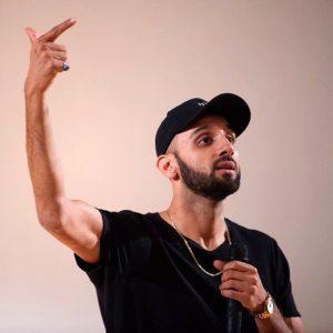 Headshot of spoken word artist Zohab Zee Khan