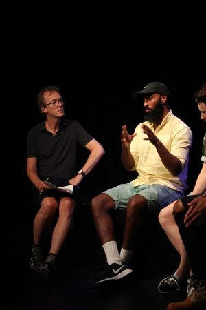 Production photo of Q&A with the creative team of Boys will be boys
